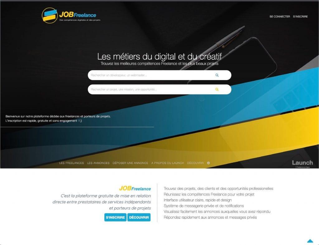 Job freelance Plateforme indépendante a choisi Webotop pour créer un site professionnel - Création de plateforme web au top avec Webotop